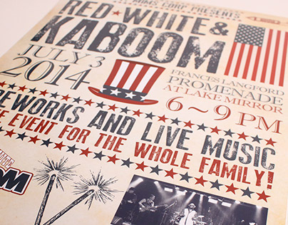 2014 Red White and Kaboom Poster