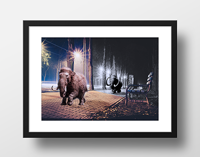 Mammoths in the night