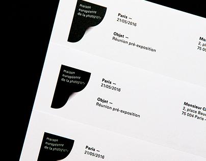 Maison Européenne de la Photographie, Identité Visuelle