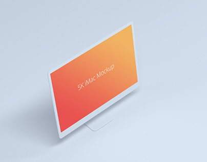 Minimal Light 5K iMac Mockup