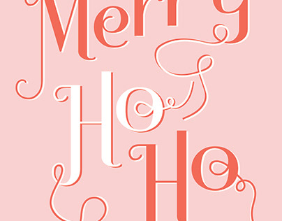Merry Ho Ho Holiday Card