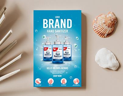 Hand Sanitizer Poster For Social Media Promotion