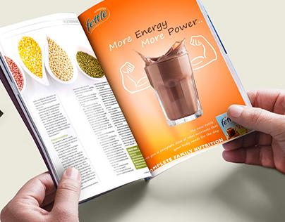 Fettle : Nutrition Drink, Branding