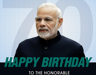Happy Birthday honorable PM Narendra Modi Ji