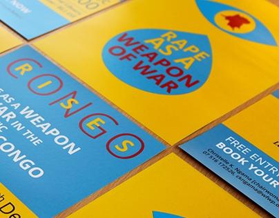"A5 Flyer for ""Congo Rises"", Awareness Raising Campaign"