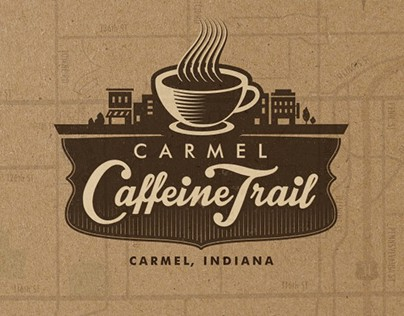 Carmel Caffeine Trail Logo and Print Design