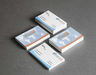 business card design for travel agency
