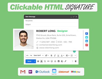 Html Email Signature Design