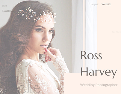 Elegant Personal Portfolio for Wedding Photographer