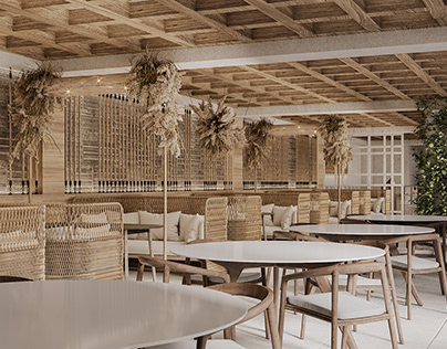 Cafe with Tropical Elements