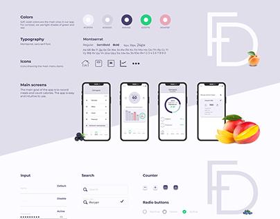 Food diary - calorie counter app