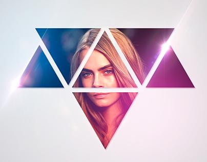 Beauty Cara, Triangle Shapes / Cara Hermosa Triangulos