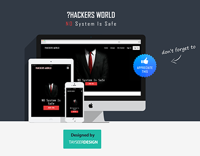 Hackers World - Web Design Template