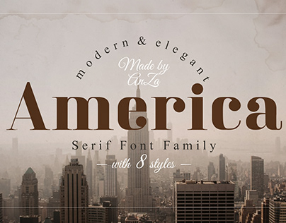 America Serif Font Family