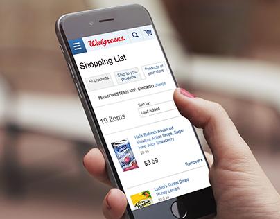 Walgreens.com Shopping List