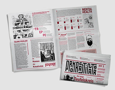 Prokrastinator - Newspaper Logo and Layout