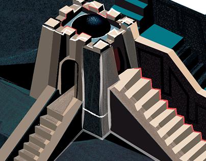ziggurat in work gif