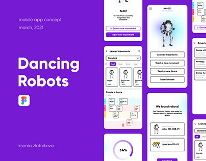 Dancing Robots Concept App