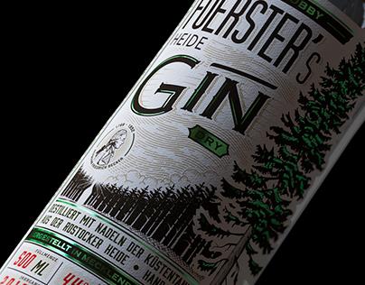 Foerster's Heide Gin - Label Design