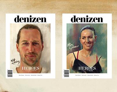 Digital portraits for Denizen Magazine