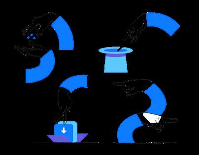 Brand illustration for Bllocc