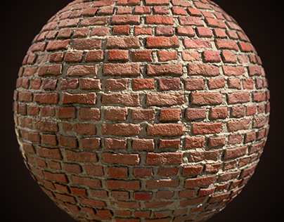 Brick wall procedural texture