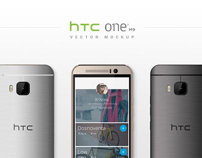 HTC One M9 Vector MockUp (CreativeMarket)