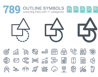 BomSymbols Outline Big Pack
