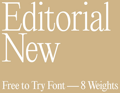 Editorial New — Free Font