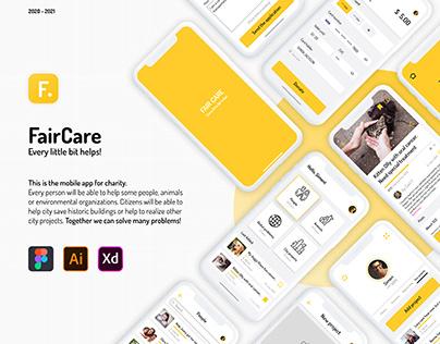 FairCare   Mobile app design