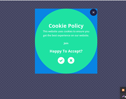 Cookie Policy Popup with Elementor Pro