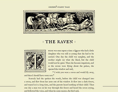The Raven—Grimm's fairy tale