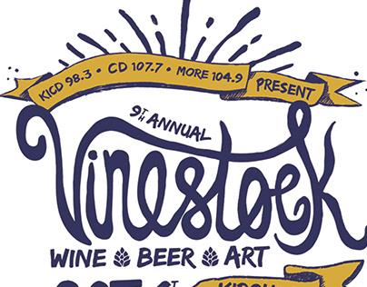 Vinestock Wine, Beer and Art Festival Rebrand
