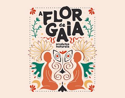 Identidade Visual // A Flor de Gaia - Produtos Naturais