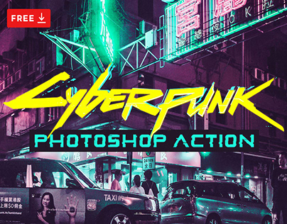 FREE CYBERPUNK PHOTOSHOP ACTIONS