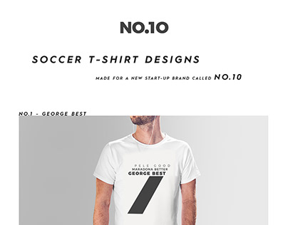 NO.10 | Soccer T-Shirt Designs