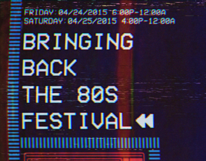 Bring Back the 80s Poster
