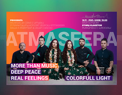 Advertisement for the Atmasfera band.
