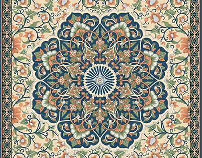 Flatbed Printing, Textile Design, 4color design