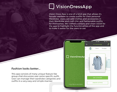 VisionDress App - Design Concepts