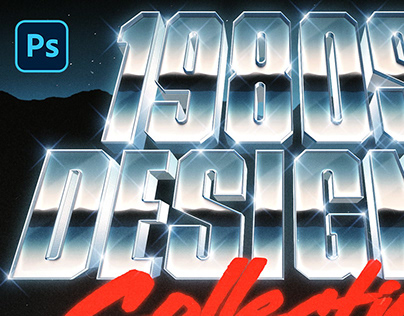 [PSD] CHROME 80S TEXT AND LOGO EFFECT