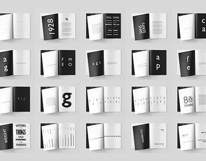 Gill Sans Type Specimen Book