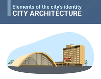 Elements of the city's identity. City architecture