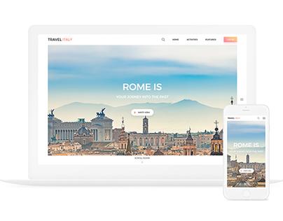 Travel Rome website