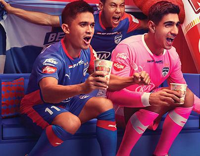 Cup Noodles + Bengaluru FC (key visual)