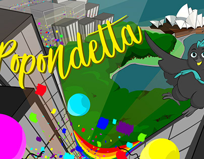 POPONDETTA BACKGROUNDS AND CHARACTER DESIGN 2018