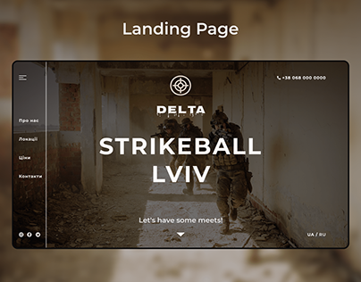 """Landing page for the """"DELTA"""" airsoft club"""