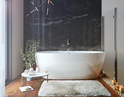 Siberian morning bath