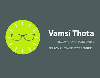 Vamsi Thota // Personal Branding