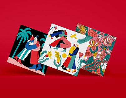 Postcards for Jsme Fér